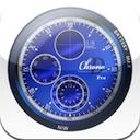DchronoPro 2.0.0 [iPhone] 〜 スキンの自作も可能、アナログ/デジタルの両方を表示する時計アプリケーション