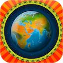 Barefoot World Atlas 2 0 0 Iphone Ipad 名所や動物などのイラストが載った 3d の地球を自由に回して世界中を旅する Life With I